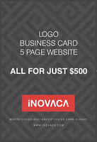 GET A 5 PG WEBSITE WITH A LOGO & BUSINESS CARD DESIGN FOR $500
