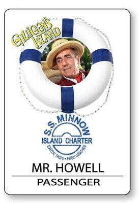 MR HOWELL GILLIGANS ISLAND S.S. MINNOW NAME BADGE HALLOWEEN COSPLAY PIN BACK](Gilligan Halloween Costume)