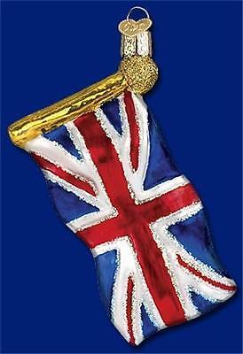 UNION JACK OLD WORLD CHRISTMAS GLASS UK ENGLAND UNITED KINGDOM ORNAMENT 36137