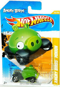 Hot Wheels 1/64 Scale Angry Birds Minion Pig Diecast Car