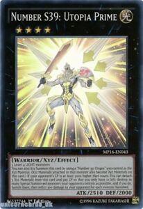 MP16-EN043 Number S39: Utopia Prime Super Rare 1st Edition Mint YuGiOh Card