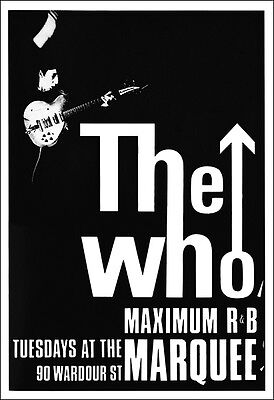 THE WHO 1966 Max R & B Marquee Concert Poster
