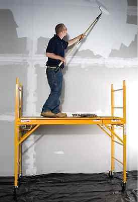 Scaffolding Rolling Multipurpose Construction Platform Ladder Steel Portable Pro