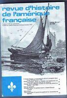 REVUE D'HISTOIRE DE L'AMERIQUE FRANCAISE  VOL.38