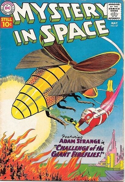 Mystery In Space Comic Book #67, DC Comics 1961 VERY GOOD+/FINE-