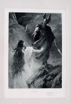Ferdinand Leeke Richard Wagner Siegfried Götterdämmerung Wotan Erda Walhall Fels