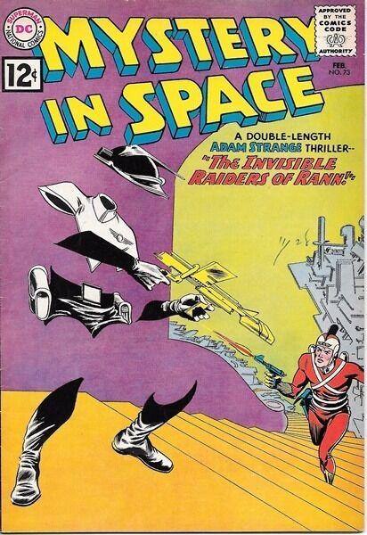 Mystery In Space Comic Book #73, DC Comics 1962 FINE+