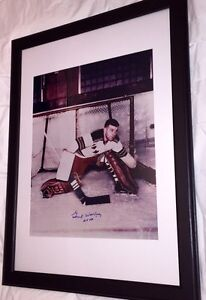 Gump Worsley Autographed Rangers 16x20 Framed. Deceased