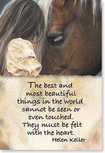 """LEANIN TREE """"Best Things Not Seen, Felt By The Heart #25855 Magnet~Helen Keller"""