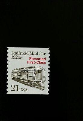 1988 21C RAILROAD MAIL CAR, COIL SCOTT 2265 MINT F/VF NH
