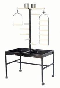 Brand New Large Bird Parrot Playpen Gym Toy Stand On Wheels