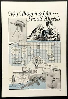 HowTo PLANS Wooden shoots dowels (Toy Machine Guns)
