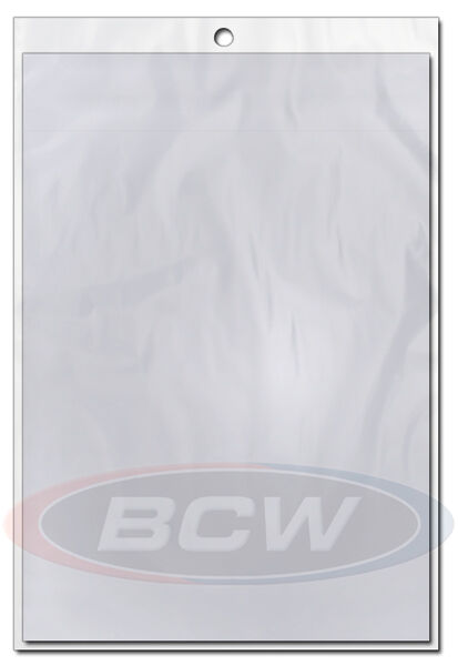 Pack of 100 BCW 12 x 18 Art Print / Tabloid Soft 2 Mil Archival Poly Bags 12x18