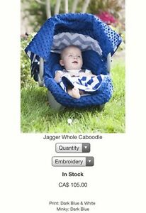 "Car seat canopy whole caboodle ""jagger"" London Ontario image 2"