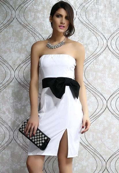 White Strapless White Dress