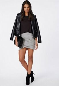 Gray wrap skirt