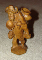 vintage wood carving from ecuador