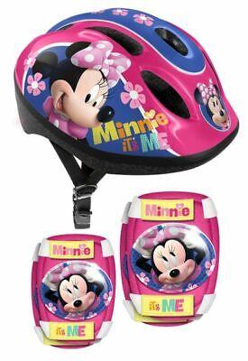 Kinder Fahrrad Helm Protektoren Ellenbogen Knie Schützer Schoner Minnie Mouse NE
