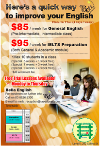 Hi! Need help with English? Enjoy our LOW price! Melbourne CBD Melbourne City Preview