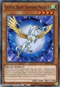 LED2-EN042 Crystal Beast Sapphire Pegasus 1st Edition Mint YuGiOh Card