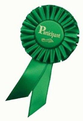 3x6 Participant Rosette Award Ribbons](Participant Ribbon)