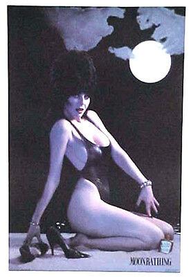 "Original Elvira Poster- Moonbathing  20"" x 26""  Rolled- Vintage-Warehouse Find"