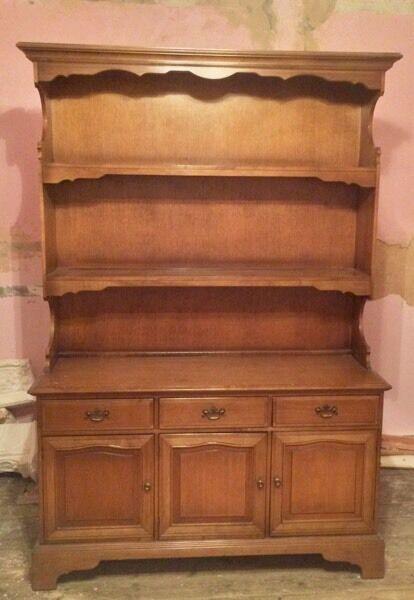 Large Welsh Dresser Solid Wood
