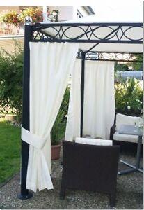 outdoor vorhang nach ma fertig gen ht bis 2 90m hoch ebay. Black Bedroom Furniture Sets. Home Design Ideas