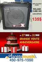 VENTE ANNIVERSAIRE Amplificateur usagé ROLAND CUBE 30X