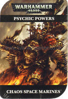 Warhammer 40k Psychic Powers cards Chaos Space Marines