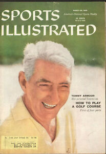 1959 Sports Illustrated Magazine- golfer Tommy Armour on cover