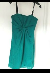 DKNY strapless green dress - Size 0 Kitchener / Waterloo Kitchener Area image 1