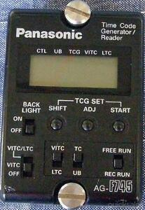 Old Panasonic Time Code Reader - Gen AG-F745E JG1 Blacktown Area Preview