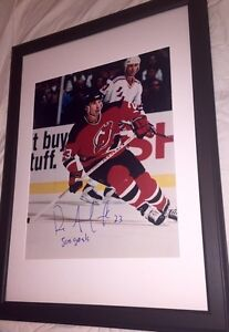 Dave Andreychuk Autographed New Jersey Devils 16x20 Framed