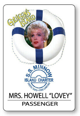 MRS HOWELL GILLIGANS ISLAND S.S. MINNOW NAME BADGE HALLOWEEN COSPLAY MAGNET BACK