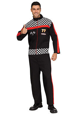 Fun World - Race Car Driver Adult Costume](Mens Race Car Driver Costume)