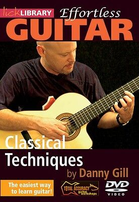 Classical Techniques Effortless Guitar Series Lick Library DVD NEW 000393094 Classical Guitar Technique Dvd