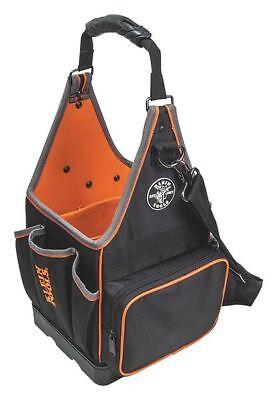 Klein Tools 17  Electricians Tool Tote  20 Pockets  Black  Orange  55415814