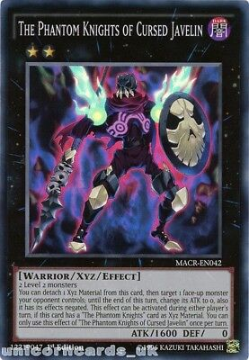 MACR-EN042 The Phantom Knights of Cursed Javelin Super Rare 1st Edition Mint YuG
