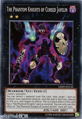 LEHD-ENC32 The Phantom Knights of Cursed Javelin 1st Edition Mint YuGiOh Card