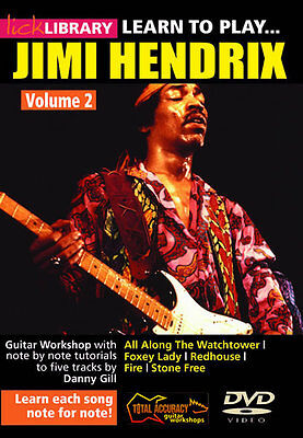 LICK LIBRARY Learn to Play JIMI HENDRIX Guitar Instructional DVD Video Volume 2 on Rummage