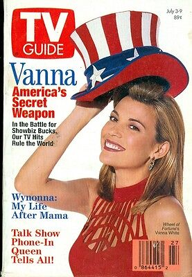 1993 Tv Guide  Vanna White   Wheel Of Fortune Wynonna Talk Show Phone In Queen