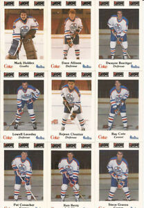 1984-85 NOVA SCOTIA OILERS hockey cards ... complete 26 card set City of Halifax Halifax image 3