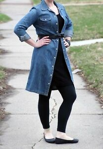 JACOB Denim belted dress/overcoat