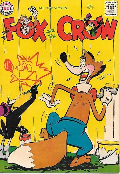 the Fox and the Crow Comic Book #37, DC Comics 1956 VERY FINE-