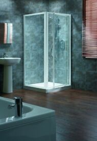 Ideal standard 760mm door and 760mm side panel silver