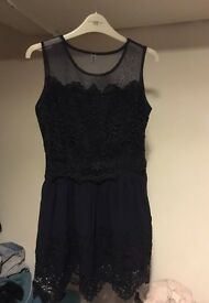 Blue lace dress size M
