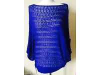 Lear women's blue jumper one size