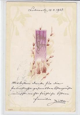 AK OSTERN KERZE SCHRIFT PR GE 1903
