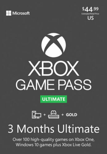 Xbox Game Pass Ultimate 3 Months Gold Membership (BRAND NEW SINGLE CODE USA)